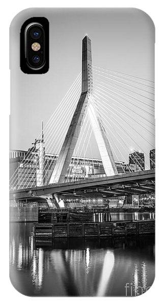 Boston Zakim Bridge Black And White Photo IPhone Case