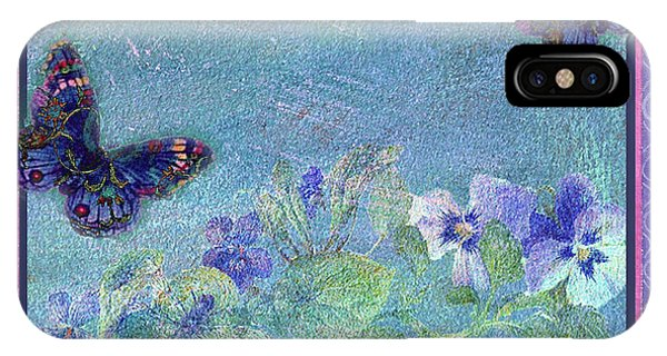 Botanical And Colorful Butterflies IPhone Case