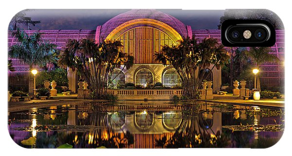 Botanical Building At Night In Balboa Park IPhone Case