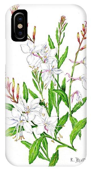 Botanical Illustration Floral Painting IPhone Case