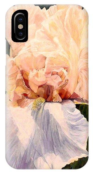 Botanical Peach Iris IPhone Case