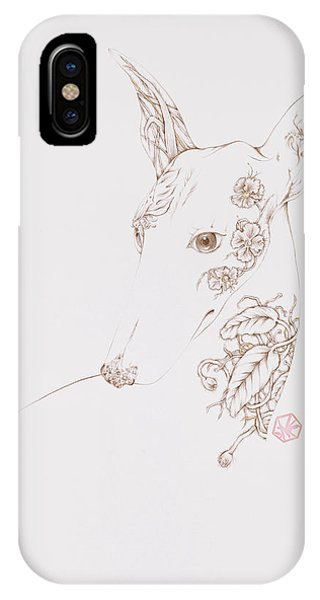 Botanicalia Greyhound IPhone Case