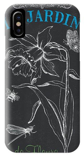 Bee iPhone Case - Botanique 2 by Debbie DeWitt
