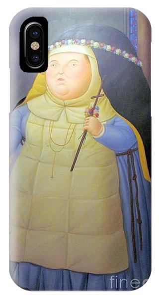 Botero Nunn In Blue IPhone Case