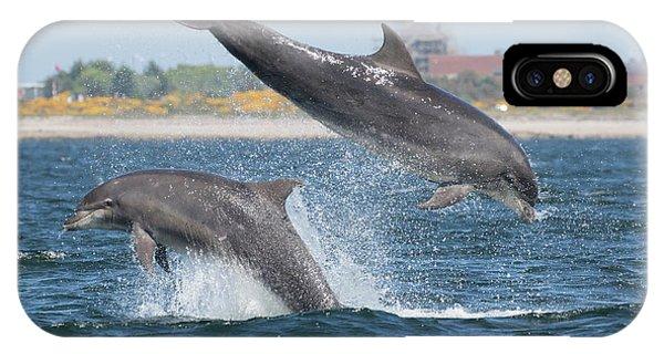 IPhone Case featuring the photograph Bottlenose Dolphin - Moray Firth Scotland #48 by Karen Van Der Zijden