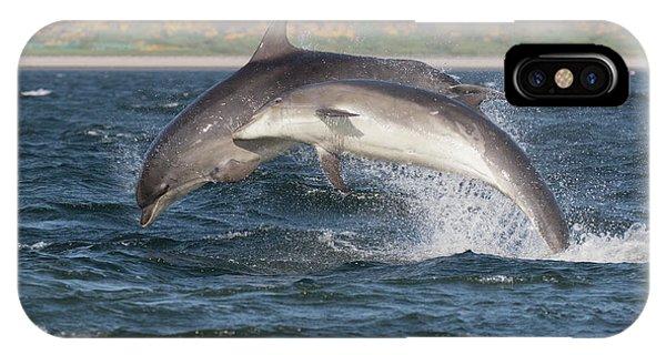 IPhone Case featuring the photograph Bottlenose Dolphins - Moray Firth Scotland #47 by Karen Van Der Zijden
