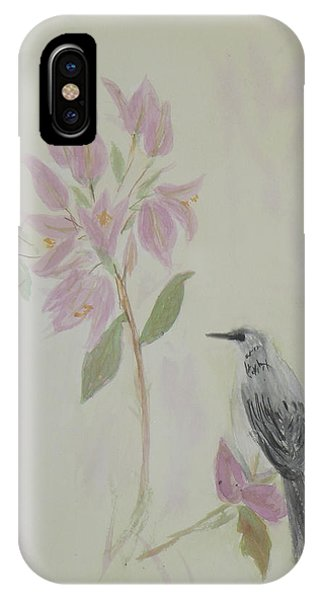 Bougainvillea And Mockingbird IPhone Case