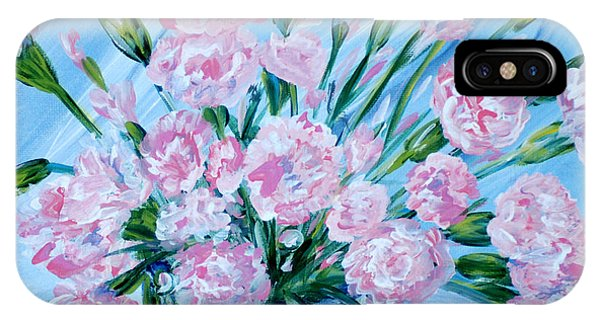 Bouguet Of Carnations.  Joyful Gift. Thank You Collection IPhone Case
