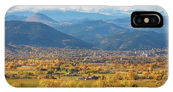 Boulder Colorado Autumn Scenic View IPhone Case