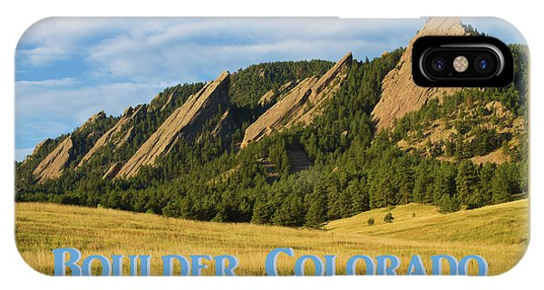 IPhone Case featuring the photograph Boulder Colorado Poster 1 by James BO Insogna