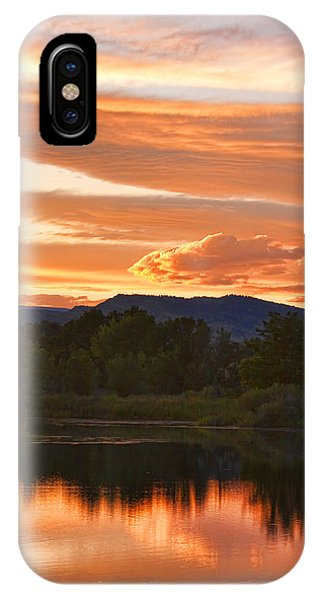Boulder County Lake Sunset Vertical Image 06.26.2010 IPhone Case