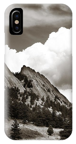 Large Cloud Over Flatirons IPhone Case