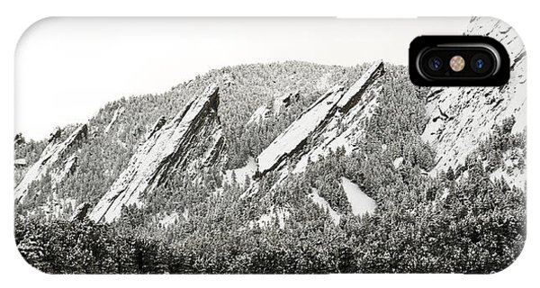 Boulder Flatirons Colorado 1 IPhone Case