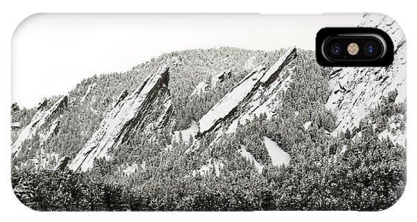 Boulder Flatirons Colorado 1 IPhone Case