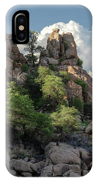 IPhone Case featuring the photograph Boulder Glow by Gaelyn Olmsted