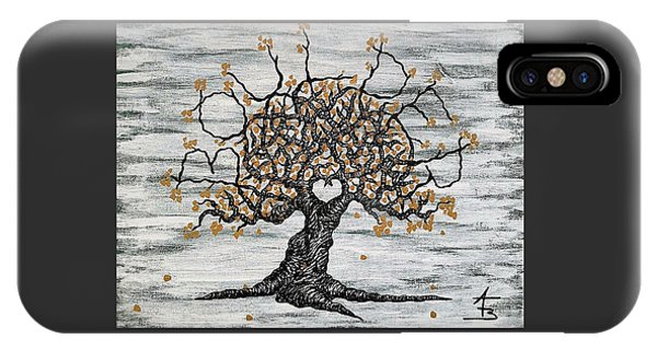 IPhone Case featuring the drawing Boulder Love Tree by Aaron Bombalicki