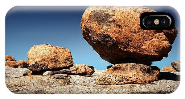 Boulder iPhone Case - Boulder On Solid Rock by Johan Swanepoel