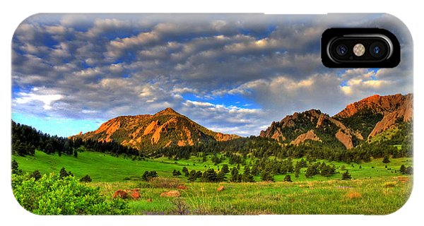 Boulder Spring Wildflowers IPhone Case