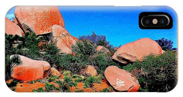 Boulders 7 In Abstract IPhone Case