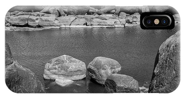 IPhone Case featuring the photograph Boulders Of Tungabhadra, Hampi, 2017 by Hitendra SINKAR