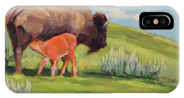 Bouncing Baby Bison IPhone Case