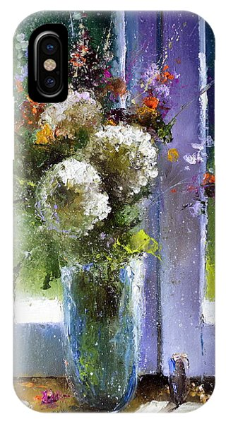 Bouquet At Window IPhone Case