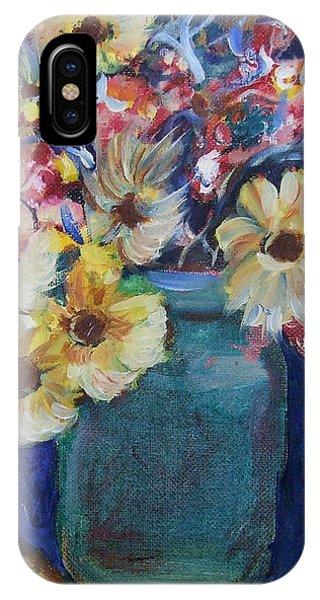 Bouquet Flowers Of Blue  IPhone Case