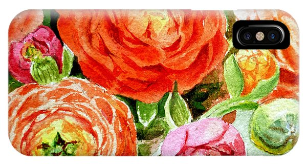 Hyper Realism iPhone Case - Ranunculus Bouquet by Irina Sztukowski