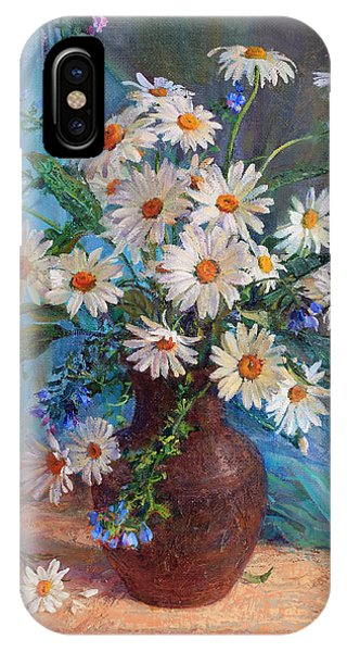 Bouquet Of Daisies In A Vase From Clay IPhone Case
