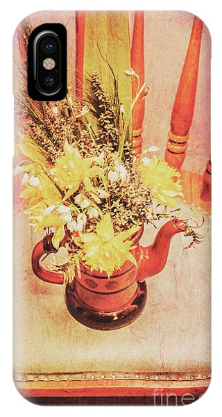 Stylish iPhone Case - Bouquet Of Dried Flowers In Red Pot by Jorgo Photography - Wall Art Gallery