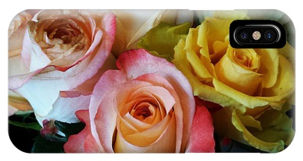 IPhone Case featuring the photograph Bouquet Of Mature Roses At The Counter by Mr Photojimsf