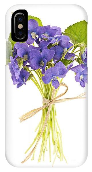 Wild Violet iPhone Case - Bouquet Of Violets by Elena Elisseeva