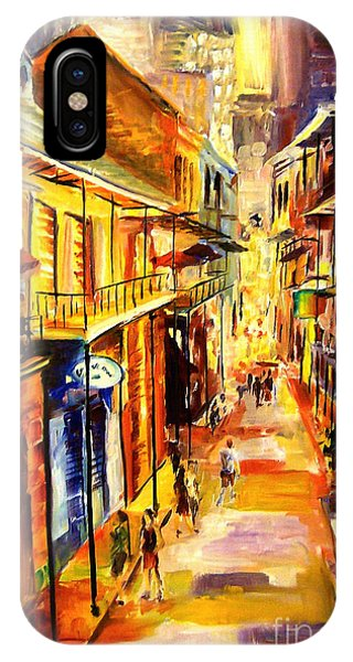 French Artist iPhone Case - Bourbon Street Glitter by Diane Millsap