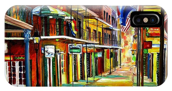 French Impressionism iPhone Case - Bourbon Street Lights by Diane Millsap