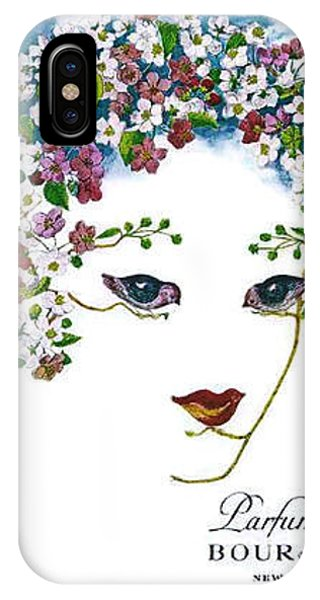 IPhone Case featuring the digital art Bourjois by ReInVintaged