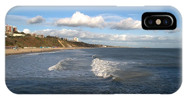 iPhone Case - Bournemouth Beach And Cliffs by Chris Day
