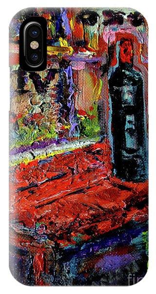 French Painter iPhone Case - Boutique De Vins Francais 1 by Zsanan Studio