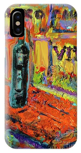 French Painter iPhone Case - Boutique De Vins Francais 4 by Zsanan Studio