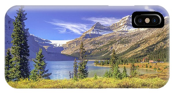 IPhone Case featuring the photograph Bow Lake 2005 01 by Jim Dollar