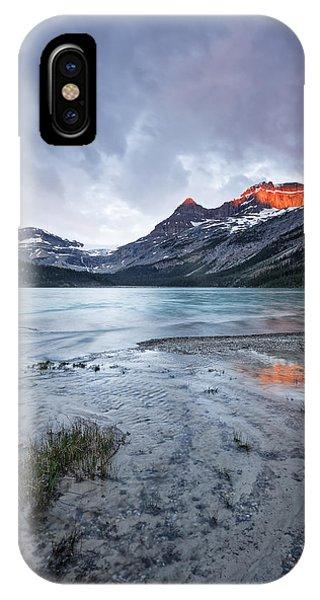 Bow Lake At Sunrise Phone Case by Jon Glaser