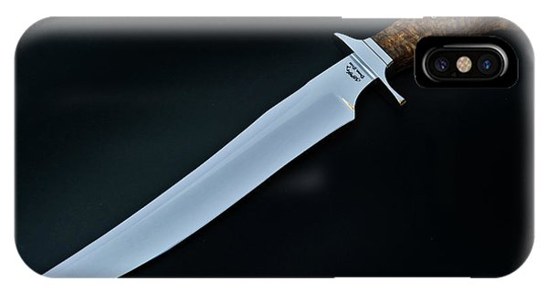 Custom Made iPhone Case - Bowie Knife With Black Ash Handle by Gary Langley