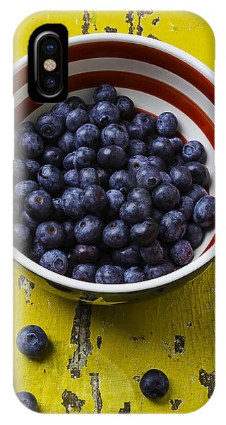 Blue Berry iPhone Case - Bowl Full Of Blue Berries by Garry Gay