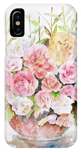 Bowl Full Of Roses IPhone Case