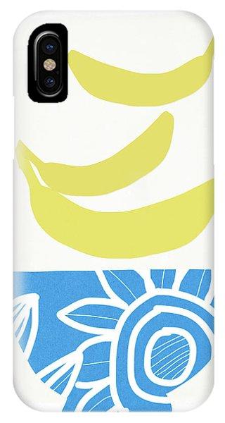 Banana iPhone Case - Bowl Of Bananas- Art By Linda Woods by Linda Woods