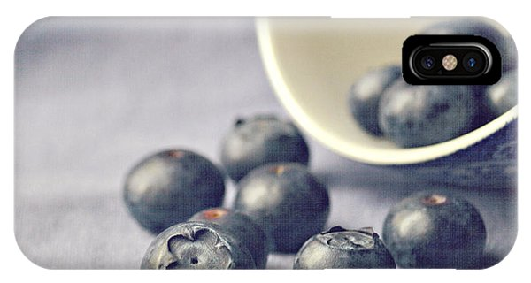 Square iPhone Case - Bowl Of Blueberries by Lyn Randle