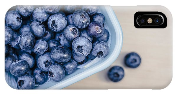Blue Berry iPhone Case - Bowl Of Fresh Blueberries by Edward Fielding
