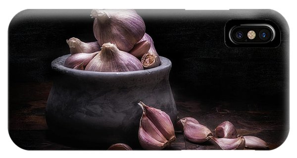 Season iPhone Case - Bowl Of Garlic by Tom Mc Nemar