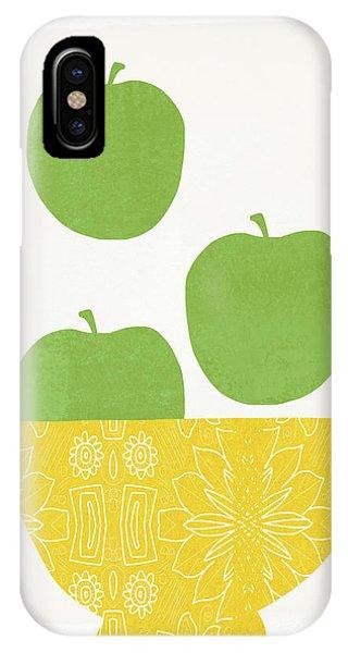 Simple iPhone Case - Bowl Of Green Apples- Art By Linda Woods by Linda Woods