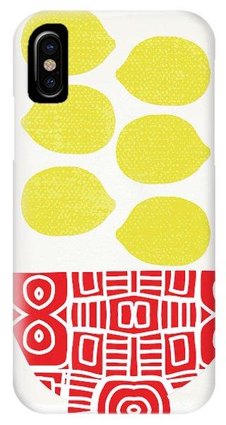 Yellow iPhone Case - Bowl Of Lemons- Art By Linda Woods by Linda Woods