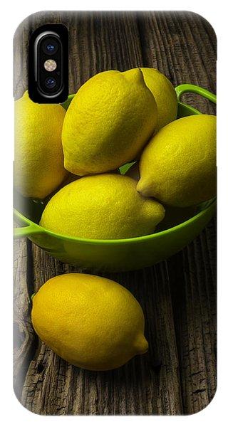 Lemon iPhone Case - Bowl Of Lemons by Garry Gay